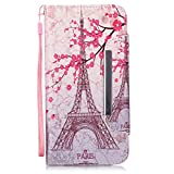"""iPhone 6S Case, iPhone 6 Wallet Case, Firefish [Kickstand] Design [Card/Cash Slots] Premium PU Leather Wallet Flip Cover with Wrist Strap for Apple iPhone 6/6S 4.7""""-Tower"""