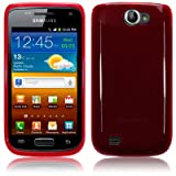 Samsung Galaxy W i8150 TPU Gel Skin / Case / Cover - Red PART OF THE QUBITS ACCESSORIES RANGE