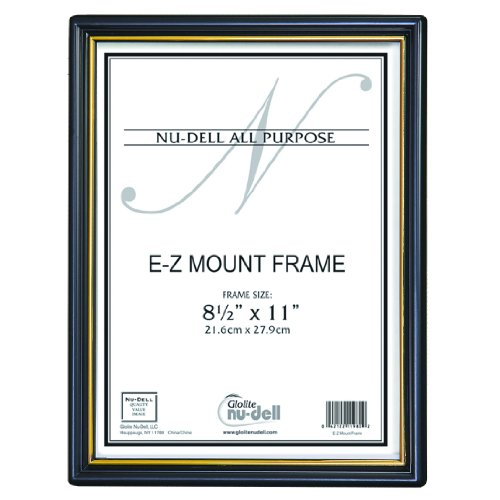 "Nudell (3) 8.5"" X 11"" Ez Mount Document Frame Plastic Face Value Pack, Black front-535055"