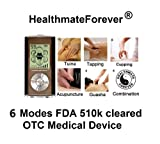 HealthmateForever, 6 modes, 8 pcs pads, full body, Portable rechargeable palm digital massager, Lifetime Warranty, FDA cleared. Healthmate Forever HM6M Black