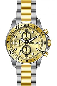 Invicta Men's 15207 Pro Diver Chronograph Gold Dial Two Tone Stainless Steel Watch