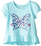 The Childrens Place Little Girls Hi-Lo Ruffle Top