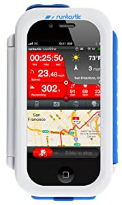 Runtastic RUNCAI1W Fahrradhalterung Bike Case für Apple iPhone 4 weiß