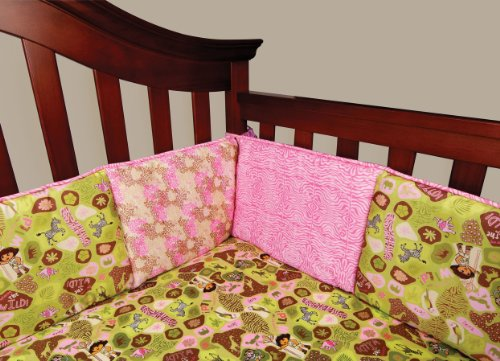 Trend Lab Nickelodeon Crib Bumpers, Dora the Explorer Exploring the Wild