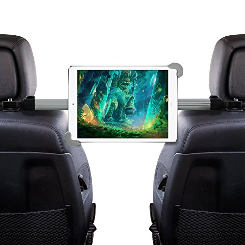 Okra Universal 360° Degree Rotating Tablet Car Headrest Grip Mount (HRM3) for iPad, Galaxy, & all Tablets up to 11