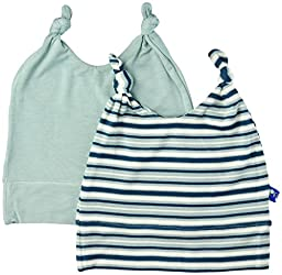 KicKee Pants Baby Boys Double Knot Hat Set Prd-kphs861s16d2-Jbas, Jade/Boy Animal Stripe, Preemie