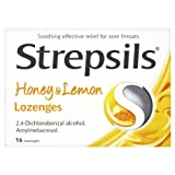 Strepsils Honey and Lemon Lozenges - Pack of 16