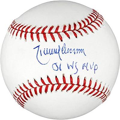 Randy Johnson Arizona Diamondbacks Autographed Baseball with 01 WS MVP Inscription - Fanatics Authentic Certified