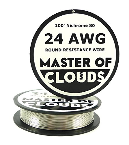 Nichrome 80 - 100 ft 24 Gauge AWG Resistance Wire 0.51mm 24g 100'