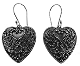 195 Tides of Love Earrings Organic / Silver Jewelry of Bali