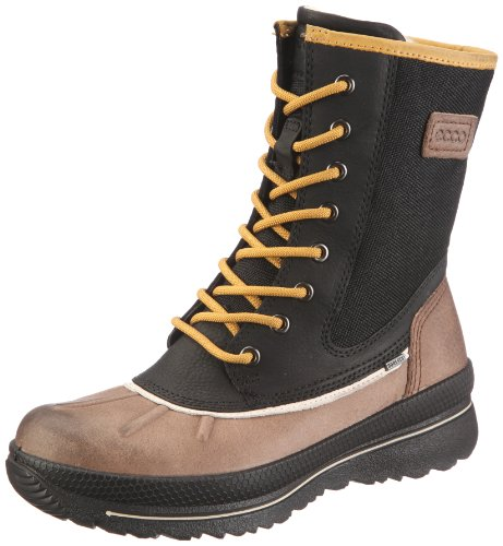 ECCO Cliff 243033 Ladies Casual Calf Length Boots, Cocoa Brown/Black/Mustard, size 36