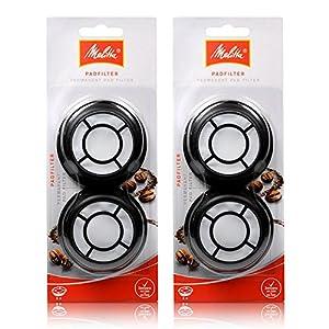 2x Melitta Permanent Kaffeefilter / Filterpad für Senseo Cappuccino Select