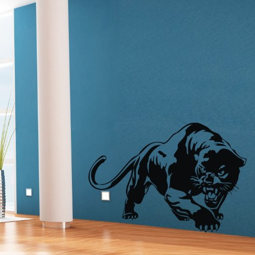 """Colorfulhall 23.6"""" X 31.1"""" Black Wall Art Sticker Decal Lovely Animal Panther Mural Home Kids Room Bedroom Decoration front-482943"""