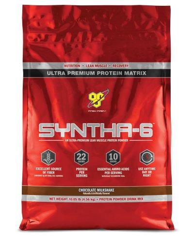 BSN SYNTHA-6 Protein Powder - Chocolate Milkshake, 10.05 lb (97 Servings) (Chocolate Protein Powder Whey compare prices)