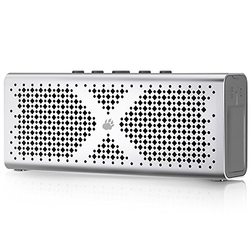 Bluetooth Speakers, BlitzWolf 1800mah Stereo Wireless Pocket Player Loudspeaker with Aux Port for MP3 Music, PSP Game, Hands Free Call (Grey)