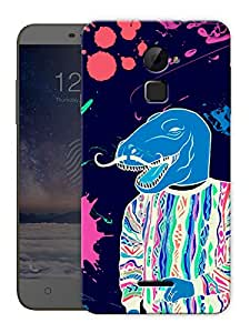 """Dinosaur Face Trippy Printed Designer Mobile Back Cover For """"Coolpad Note 3 Lite"""" By Humor Gang (3D, Matte Finish, Premium Quality, Protective Snap On Slim Hard Phone Case, Multi Color)"""