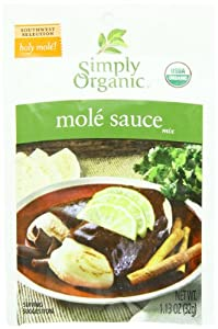 Simply Organic Seasoning Mix, Og, Mole Sce, 1.13-Ounce (Pack of 12)