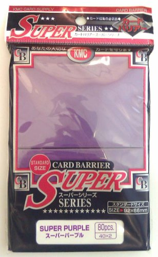 KMC - KMC 80 pochettes Card Barrier Super Series Super Violet - 1