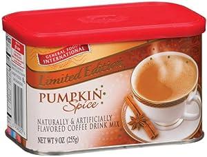 GENERAL FOODS INTERNATIONAL International Pumpkin Spice Latte Coffeehouse Beverage Mix 9 oz...(Pack of 4)