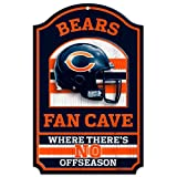 NFL Chicago Bears 11-by-17 inch Fan Cave No Offseason Wood Sign