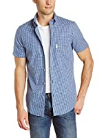 Ben Sherman Men's Short Sleeve Mini Mod Check Woven