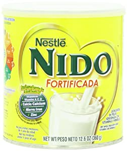Nestle NIDO Fortificada Dry Milk 12.6 oz. ,Canister