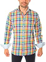 VICKERS Camisa Hombre Harvard (Amarillo / Multicolor)