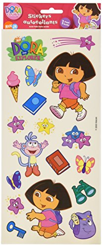 Sandylion Dora Clear Sticker, 5.5 by 12-Inch