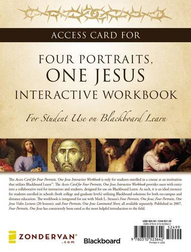 Access Card for Four Portraits, One Jesus Interactive Workbook: For Student Use on  Blackboard Learn PDF