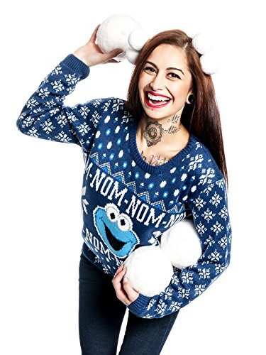 Sesam strada Cookie Monster Christmas Sweater maglia - Sweater Multicolour multicolore M