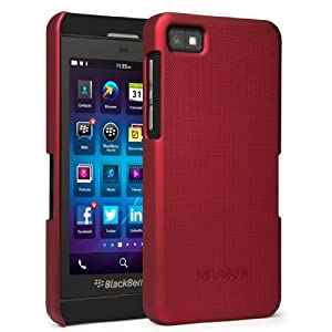 i-Blason Apache Series for Blackberry Z10 Slim Fit Snap On Hard Back Case Cover with Soft Touch  (Red)