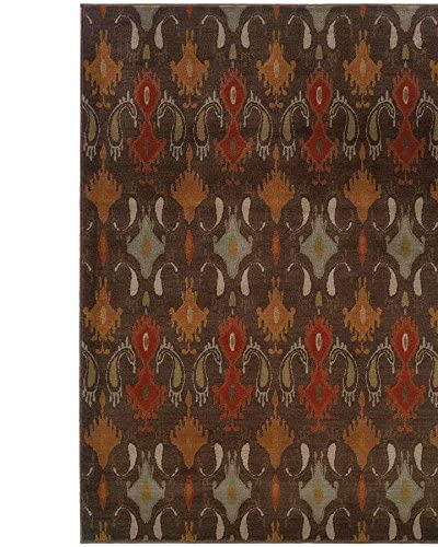 Granville Rugs Alhambra Rug, Brown/Copper/Multi