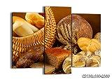 Impression sur toile - 130x100 cm - Image sur toile - 3 Parties - encadrée - prete a suspendre - plusieurs éléments - Tableaux pour la mur - Photo N° 2309 - tableau CB130x100-2309...