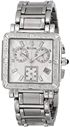 Bulova Women's 96R000  Diamond Accented Chronograph Watch
