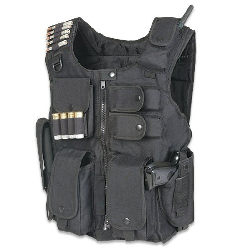 Tactical Entry Operation SWAT Police Military Law Enforcement Assault Vest - Right Handed Black Color