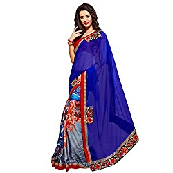 Royalty Wears Women's Georgette Saree (5084)