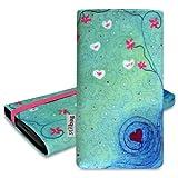 Stilbag Pouch 'MIKA' for HTC One V - Design: Heart in Flower