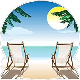 Peel and Stick Beach Scene Wall Decal Sticker Removable Wall Art (28