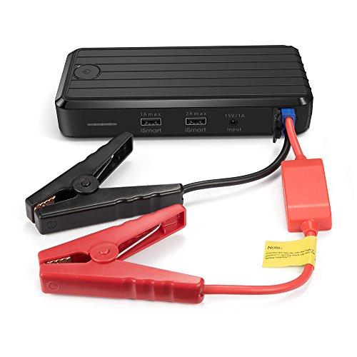 RAVPower カージャンプスターター 12,000mAh モバイルバッテリー 緊急始動 カーエンジンスターター バッテリーレスキュー 大容量 マルチチャージャー 充電式DC12V 車専用 非常用電源 バッテリー 充電器 1年間の安心保証スマホ/iPhone緊急充電 LEDライト SOSモールス信号点灯機能 2USBポート(1A  2A)搭載RP-PB27