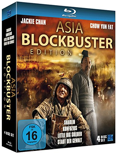 Asia Blockbuster Edition (Shaolin, Konfuzius / Little Big Soldier / Stadt der Gewalt) (4 Blu-rays) [Blu-ray] [Collector's Edition]