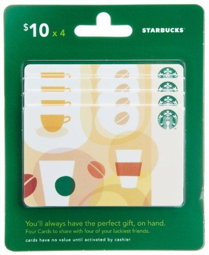 Starbucks Gift Cards, Multipack of 4 - $10