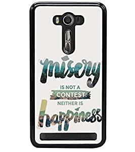 printtech Misery Happiness Back Case Cover for Asus Zenfone 2 Laser ZE500KL , Asus Zenfone 2 Laser ZE500KL (5 Inches)