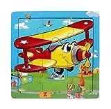 Ularma Lindo Juguetes de madera de los cabritos Jigsaw para la educaci�n de los ni�os y Puzzles juguetes de aprendizaje (multicolor14)