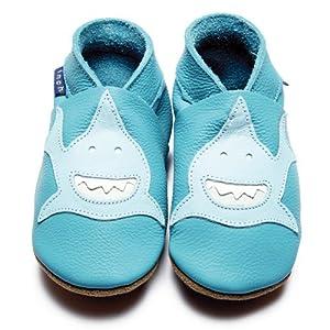 Inch Blue - 1617 M - Chaussures Bébé Souples - Requin - Turquoise - T 19-20 cm