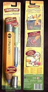 Giant Chalk Pencil, 13 Inches, with Working Eraser, Chalk Sharpener, Storage and 3 Giant Sidewalk Chalks