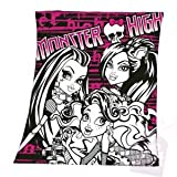 Frankie Stein, Clawdeen Wolf and Lagoona Blue Monster High fleece blanket