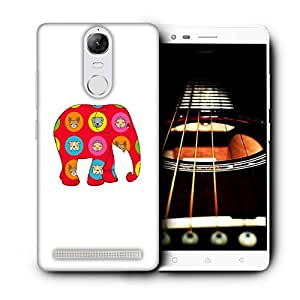 Snoogg Red Elephant Designer Protective Back Case Cover For LENOVO K5 VIBE