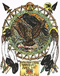 Hawk Totem Animals, Budding Trees Moon Art Print (Aries), Colored Pencil Drawings of Animal Totems, By Ben Morales