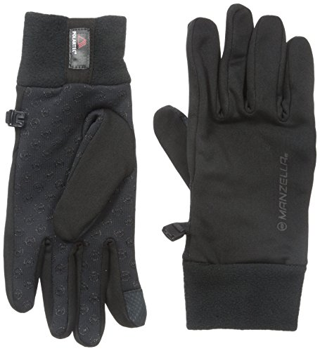 Manzella Men's Power Stretch Ultra Touch Tip Gloves, Black, Large/X-Large