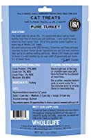 Whole Life Pet Single Ingredient USA Freeze Dried Turkey Treats for Cats, 1-Ounce